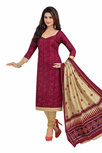 Miraan Printed Unstitched Cotton Dress Material And Churidar Suit For Women (BAND1616)
