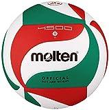 Wettspielball, weiches Synthetik-Leder - Farbe: Weiß/Grün/Rot, Größe: 5