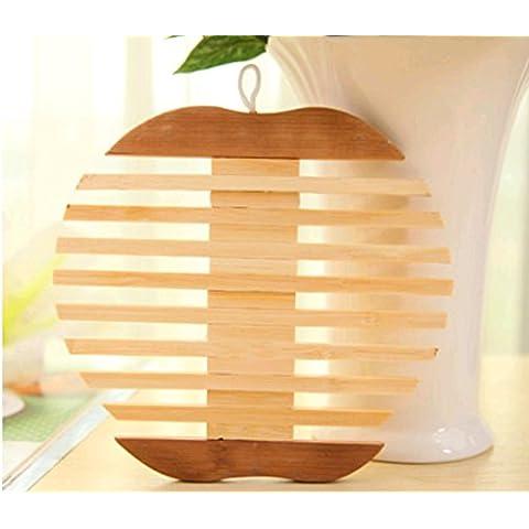 Rainbow Love in legno tazza Pot Mat Coaster Design particolare per bar, cucina e Patio Apple Shape