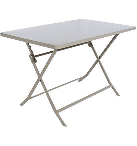 Table pliante rectangulaire Greensboro - 4 Places - Taupe
