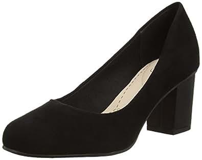 Clarks  Aldwych Park, Chaussures à talons - Avant du pieds couvert femmes - Noir - Schwarz (Black Suede), 42 EU
