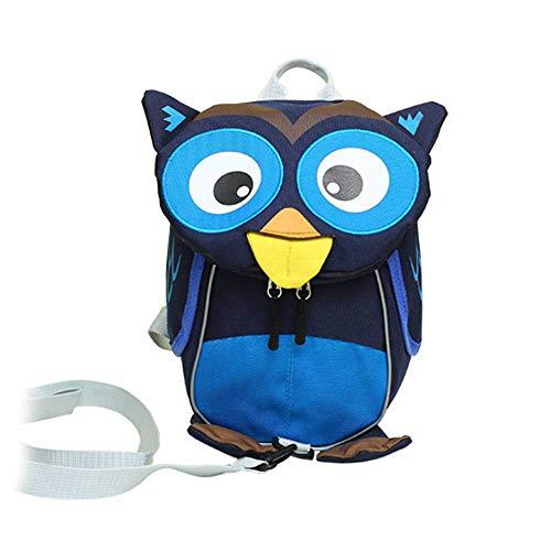 (Eule Niedliche Kind Schultasche Cartoon Charakter Kind Rucksack Mädchen Boy Baby Rucksack,Blue)
