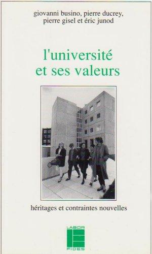 L'Université et ses valeurs