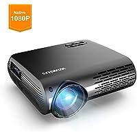 Videoproiettore,WiMiUS 5500 Lumen Nativa 1080P LED Proiettore Full HD Con 300'' Display Supporto 4K Correzione trapezoidale elettronica ± 50 °proiettore per Smartphone, PC,PS4