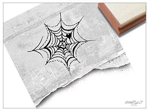 Stempel SPINNENNETZ Halloween - Kinderstempel Bildstempel Kita Kinderzimmer Schule Basteln Scrapbooking Geschenk für Kinder - zAcheR-fineT