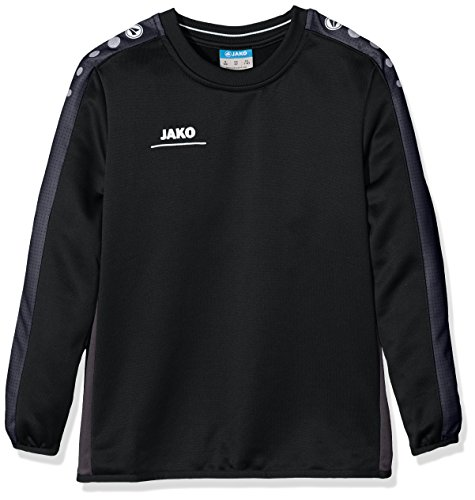 JAKO Kinder Sweatshirt Sweat Striker schwarz/grau, 164 -