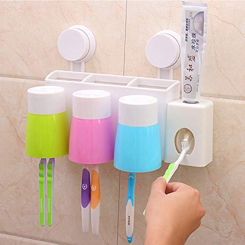 Toto Cepillo de Dientes Titular Establecer el Tipo de Pared Pared del Vaso lechón con dispensador de Pasta de Dientes automático