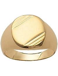So Chic Joyas - Anillo Sello Ovalo Chapado Oro 750 Amarillo