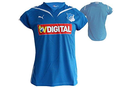 Puma TSG 1899 Hoffenheim Home Damen Fußball Jersey blau Sinsheim 1899 Heim Fussball Bundesliga Trikot Frauen, Größe:L