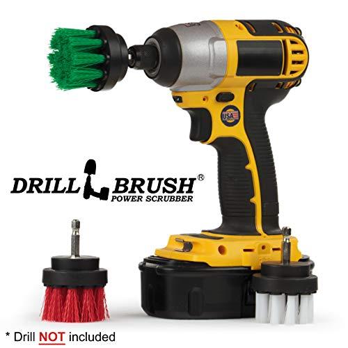 Küchenzubehör - Reinigungsgeräte - Kaffeekanne - Scrubber - Drill Brush - DREI Stück Mehrzweck Spin Brush - Vogel-Bad - Garten-Brunnen - Algen, Schimmel - Rad-Bürste - Lederreiniger