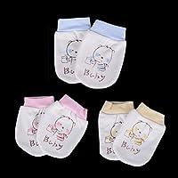 37yimu 3Paar Neugeborene Baby Infant weiche Baumwolle Handschutz Anti Kratz Fäustlinge Handschuhe