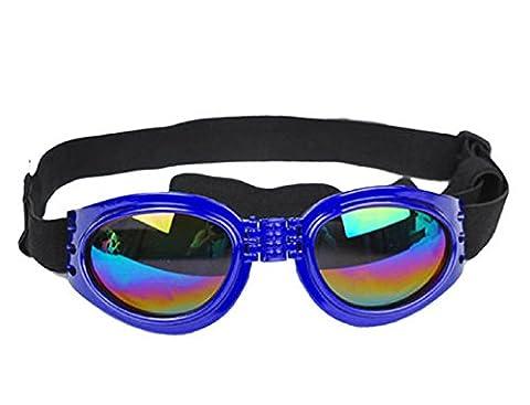 (Bleu) Lunettes de soleil pour les chiens avec élastique réglable Preservation pliant UV400