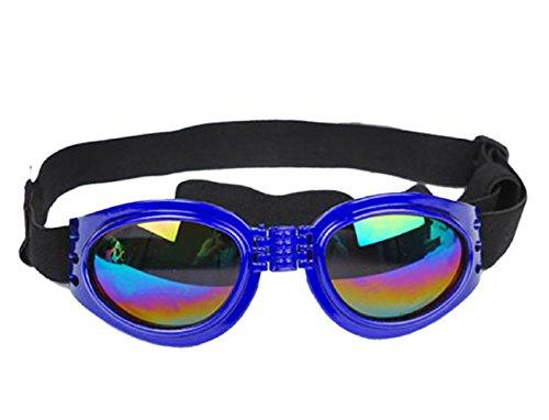 (Blau) Sonnenbrillen für Hunde mit Elastic verstellbaren Falten Preservation (Pro Kostüme Film)