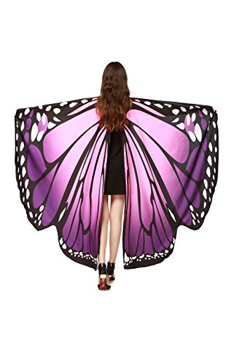Für Verkauf Den Kostüm Flügel Schmetterlings - NORA TWIPS Schmetterling Kostüm Frauen Weiches Gewebe Schmetterlingsflügel Schal Fee Damen Nymph Pixie Kostüm Zubehör für Show/Daily/Party