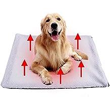 Tolyneil Cojín de calefacción para Mascotas Perros Gatos Cojín Estera Cama Sin Manta eléctrica Súper Suave