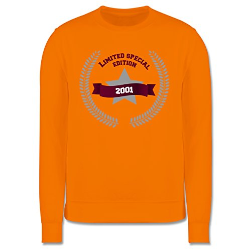 Geburtstag - 2001 Limited Special Edition - Herren Premium Pullover Orange