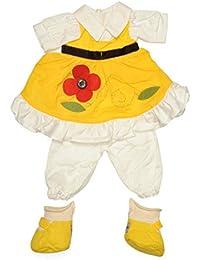 My Doll Vestito color giallo con fiore per bambola da 42cm 555f6aeb420