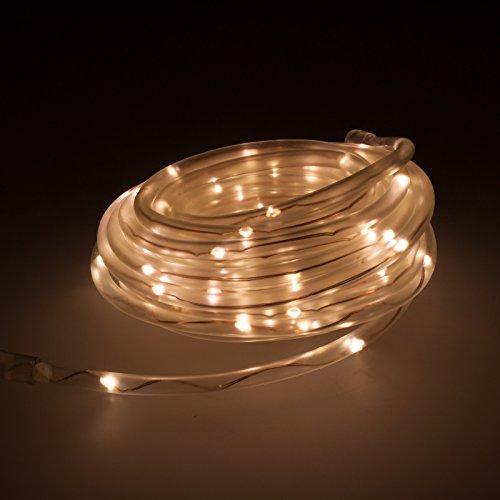 Smartfox 8m USB LED Lichtschlauch Lichterschlauch Lichterkette Leuchtdraht Beleuchtung für Innen und Außen IP44 in warmweiß