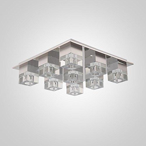 4 * cristallo di luce G4-testa soffitto semplice ed elegante per salotto, luce di cristallo alla moda moderna, Camera plafoniera