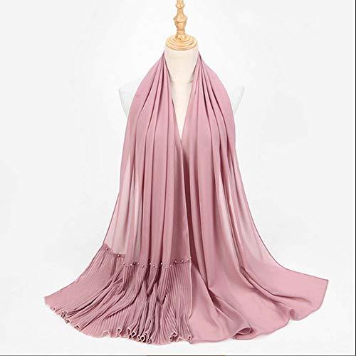 YANXS Schal Pearl Chiffon Plissee Schal National Wind Baotou Kopftuch Damen Solid Color Tuch Schal 185cm * 70cm,S - 70 S Schal