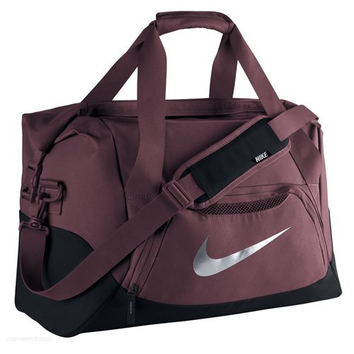 NIKE Herren Sporttasche FB Shield Duffel Weinrot/Night Maroon/Wolf Grey
