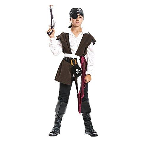 Kostümplanet Piraten-Kostüm Kinder Pirat Jungen mit Stiefel-stulpen Faschingskostüm Größe 140