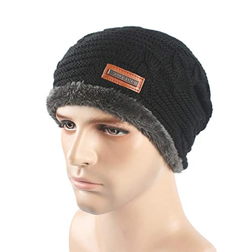 DAMENGXIANG Herbst Winter Stricken Outdoor Warm Cap Männer Freizeit Mode Hip Hop Verdicke