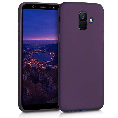 kwmobile Hülle kompatibel mit Samsung Galaxy A6 (2018) - Handyhülle - Handy Case in Metallic Brombeere