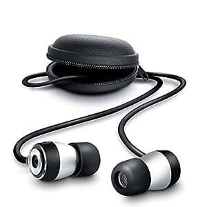 CSL - 650 In Ear Ohrhörer inkl. Schutztasche | spezifiziertes Modell 2015 | Kopfhörer EP Power Bass | Noise Reduction Design | silber/schwarz