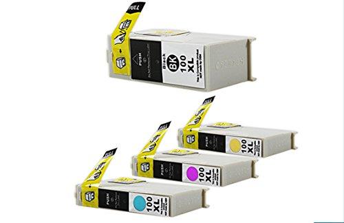 4 Alternativ Patronen Lexmark 100 XL für KEIN ORIGINAL Lexmark Prospect: Pro 200 Series / Pro 202 / Pro 205 / Pro 208 / Pro 209 / Lexmark Impact: S 300 Series / S 301 / S 302 / S 305 / S 308