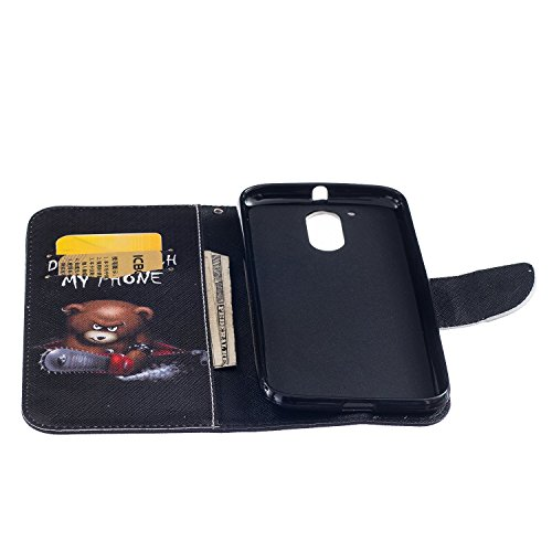 Für Apple iPhone 7,Sunrive Magnetisch Schaltfläche Ledertasche Schutzhülle Etui Hülle mit Standfunktion Cover Tasche Case Handyhülle Kartenfächer Kreditkarte Taschen Schalen Handy Tasche Flip Wallet S A Bär