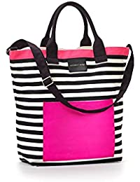 Victorias Secret - Bolsa de playa multicolor rojo, blanco, negro