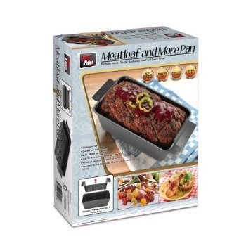 Non-Stick Loaf Pan with Inner Insert and Drip Tin - Bake, Lift and Serve easily! Includes recipe book. by Total Vision