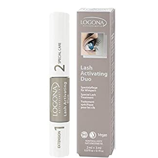 Sante Naturkosmetik Lash Activating Duo (Extension + Active Care), maquillaje natural, sérum para pestañas, extensión y cuidado de pestañas en uno, extracto ecológico, vegano, 5 ml