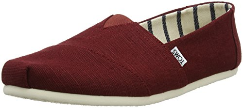 Toms Toms Shoes Classics Schwarz - Zapatillas, color Rojo, talla 40 (7 Uk)