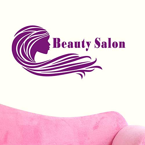 zlhcich Salon Aufkleber Aufkleber Hair Barber Shop Poster Vinyl Wandkunst Aufkleber Haarschnitt Wanddekor Dekoration Wandbild Salon Aufkleber35 * 74 cm