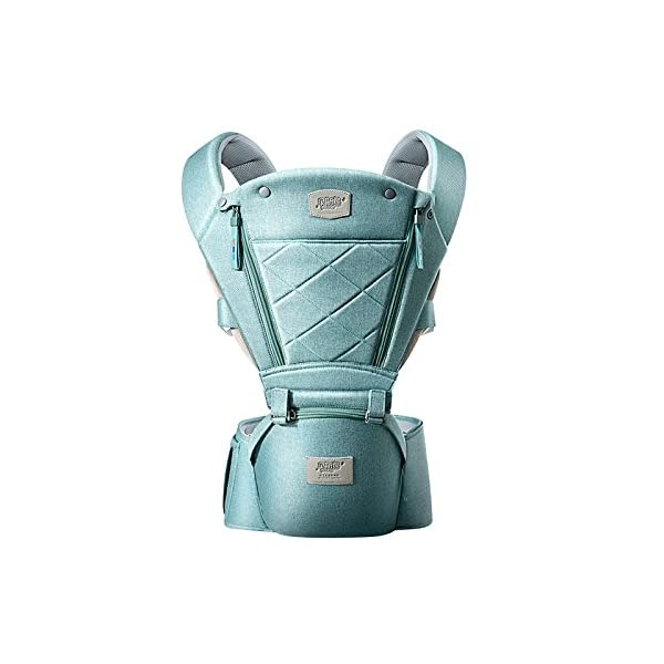 SONARIN 3 in 1 Breathable Hipseat Baby Carrier,Front Opening Design,Sun Protection,Multifunction,Adapted to Your Child's Growing, 100% Guarantee and Free DELIVERY,Ideal Gift(Green) SONARIN Applicable age and Weight:0-36 months of baby, the maximum load: 25KG, and adjustable the waist size can be up to 47.2 inches (about 120 cm). Material:designers carefully selected soft and delicate Cationic twill cloth. Resistant to wash, do not fade, ensure the comfort and wear resistance, Inner pad: EPP Foam,high strength,safe and no deformation,to the baby comfortable and safe experience. Description:patented design of the auxiliary spine micro-C structure and leg opening design, natural M-type sitting.Widened shoulder strap, Widened seat surface, thickened cushion, let the baby and mother enjoy the joy. H-type bridge belt, effectively fixed shoulder strap position, to prevent shoulder straps fall, large buckle, intimate design, make your baby more secure. 2