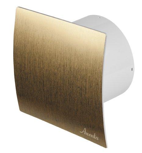 Badlüfter Ø 100 mm Gold gebürstet WEZ Lüfter Ventilator Deckenlüfter Front Wandlüfter Badventilator Ventilator Einbaulüfter Bad Küche Standart
