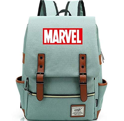 SchulterrucksackMulticolor Brief Marvel TheBoy Studentin Schultasche Jugendliche Leinwand Frauen Männer Rucksack (Marvel-leinwand-tasche)