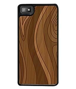 Fuson Designer Back Case Cover for BlackBerry Z10 (Wood Lakadi Antique Fashion Wood finish Dark Grey )