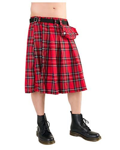 Karierter Schotten-Kilt für Herren -