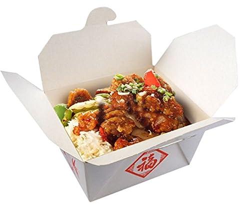 Confettery - Party Dekoration Box - chinesischer Container für Essen - 1 Stück, 6,4 x 10,5 x 12cm, Weiß