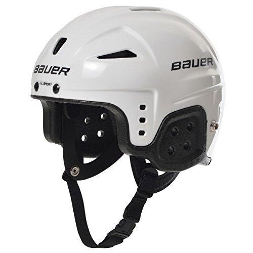 Bauer Helm Helmet Lil Sport - Casco de Hockey sobre Hielo, Color Blanc