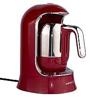 Korkmaz Kahvekolik Kırmızı Otomatik Kahve Makinesi A860-03
