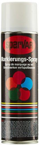 SparVar 6029160 Boden - Markier - Spray Ral 9016 Verkehrsweiß mit Überkopfventil (500ml)