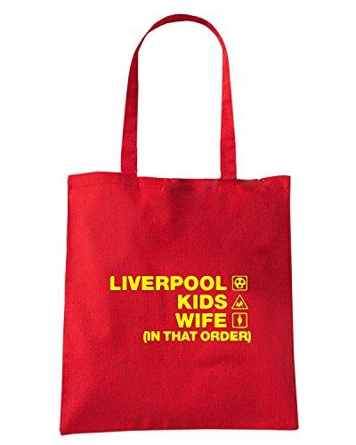 T-Shirtshock - Borsa Shopping WC1233 liverpool-kids-wife-order-tshirt design Rosso