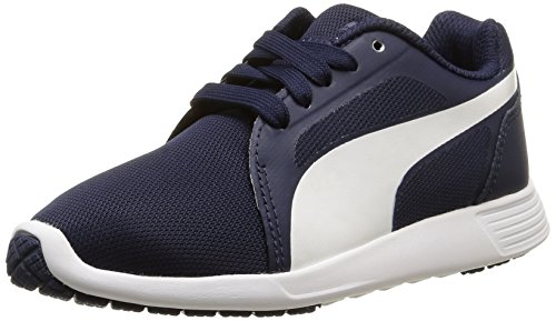 Puma St Trainer Evo, Baskets Basses Garçon Bleu (Peacoat/White)