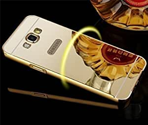 Original Rapid Zone Luxury Metal Bumper + Mirror Back Cover Case For Samsung Galaxy ON 8 - Golden