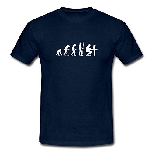 Spreadshirt evolution_pc Männer T-Shirt, 3XL, Navy