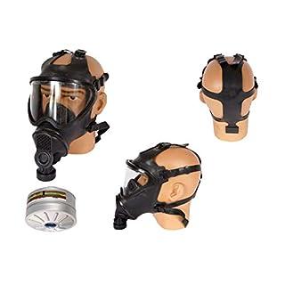 Armeeware Gr.M Belg. Gasmaske schwarz Panoramamaske mit Filter neuwertig Schutzmaske ABC-Ausrüstung